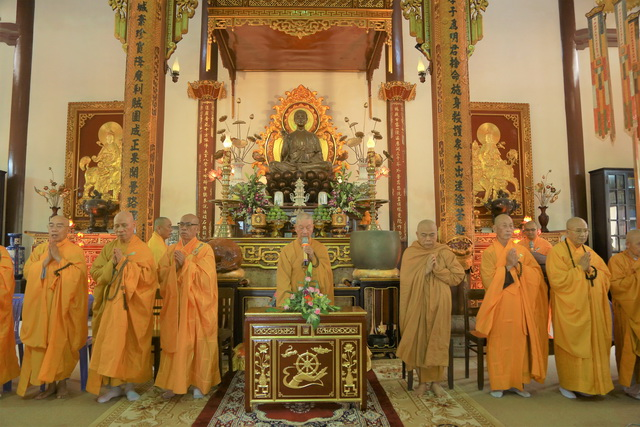 Trưởng lão Hòa thượng Thích Trí Quảng thăm Phật giáo Huế nhân mùa An cư PL.2564